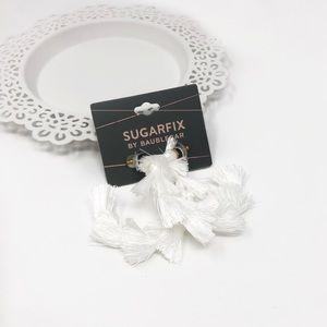 4/$25 • Sugarfix by BaubleBar Tassel Hoop Earrings